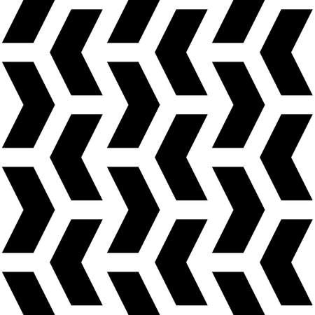Mosaic. Zigzag figures ornament. Repeated puzzle shapes background. Arrows motif. Chevrons tiles wallpaper. Parquet backdrop. Seamless vector pattern art work
