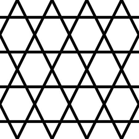 Triangles, hexagons ornament. Mosaic. Grid background. Ethnic tiles motif. Geometric grate wallpaper. Parquet backdrop. Digital paper, page fills, web design, textile print. Seamless polygons abstract Vektoros illusztráció
