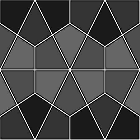 Mosaic. Triangles, kites, hexagons, rhombuses ornament. Grid background. Ethnic motif. Geometric grate wallpaper. Parquet backdrop. Digital paper, web design, textile print. Seamless abstract pattern. Illusztráció