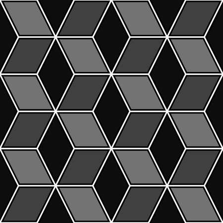 Mosaic. Rhombuses ornament. Tiles background. Ancient ethnic motif. Geometric flooring wallpaper. Parquet backdrop. Digital paper, web design, textile print. Lozenges pattern. Seamless abstract art. Illusztráció