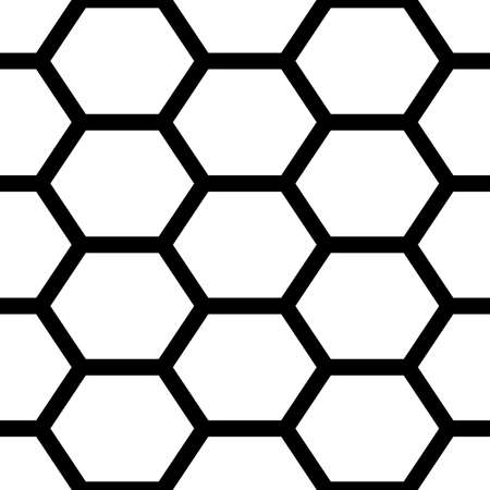 Hexagons. Honeycomb. Mosaic. Grid background. Ancient ethnic motif. Geometric grate wallpaper. Parquet backdrop. Digital paper, web design, textile print. Seamless ornament pattern. Abstract art image Illusztráció