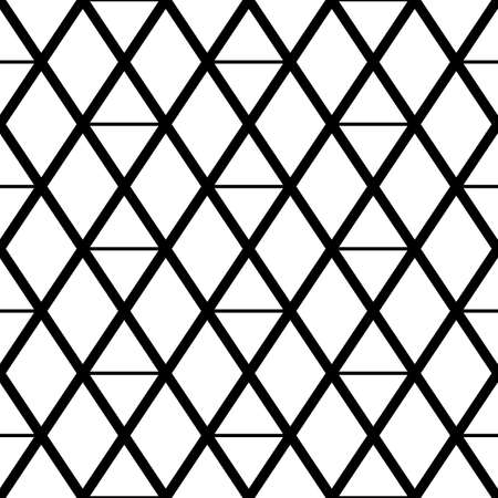 Seamless mosaic pattern. Rhombuses, triangles, lozenges ornament. Grid background. Ancient ethnic motif. Grate wallpaper. Parquet backdrop. Digital paper, web design, textile print. Diamonds vector. Illusztráció