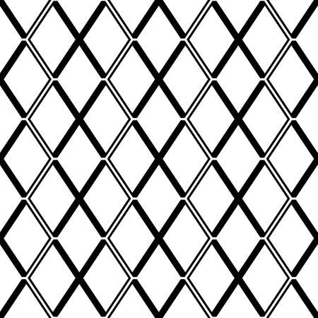 Seamless mosaic pattern. Rhombuses ornament. Lozenges grid background. Ancient ethnic motif. Grate wallpaper. Parquet backdrop. Digital paper, web design, textile print. Diamonds vector illustration.