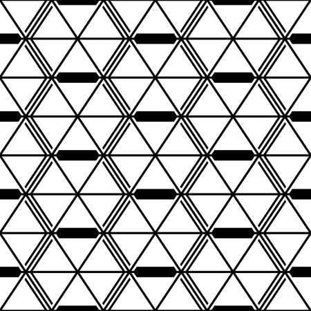 Seamless mosaic pattern. Rhombuses, triangles, lozenges ornament. Grid background. Ancient ethnic motif. Grate wallpaper. Parquet backdrop. Digital paper, web design, textile print. Diamonds vector. 矢量图像