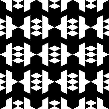 Folk wallpaper. Seamless pattern. Rhombuses, figures ornament. Ethnic motif. Simple shapes background. Geometric backdrop. Digital paper, textile print, web design, abstract.
