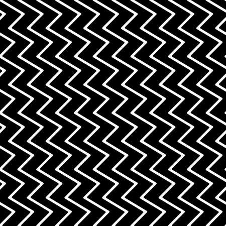 Diagonal zigzag lines seamless pattern. Angled jagged stripes ornament. Linear waves motif. Curves print. Striped background. Tilted broken line shapes wallpaper.