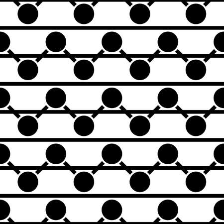 Circles, lines ornament. Geometric background. Line, circle shapes seamless pattern. Stripes, rounds ornate. Ethnic wallpaper. Folk image. Tribe motif. Digital paper, textile print, web design. Vector