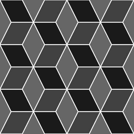 Mosaic. Rhombuses ornament. Tiles background. Ancient ethnic motif. Geometric flooring wallpaper. Parquet backdrop. Digital paper, web design, textile print. Lozenges pattern. Seamless abstract art. Çizim