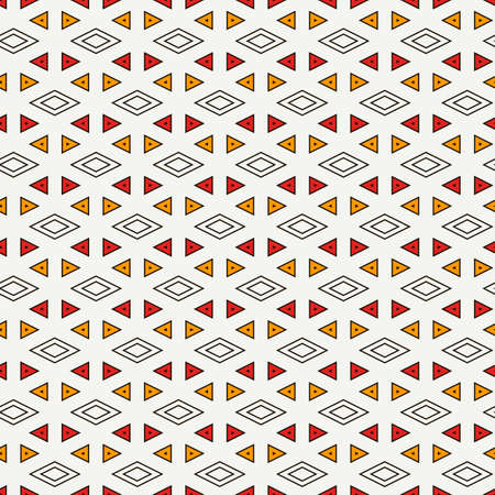 Contemporary geometric pattern. Repeated triangles ornament. Modern geo abstract background. Seamless surface design. Mosaic wallpaper. Digital paper, textile print. Vector illustration