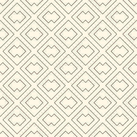 Diamond grid seamless pattern. Ethnic, tribal surface print. Geometric ornament. Repeated rhombuses background. Ornamental folk wallpaper. Geo vector abstract illustration