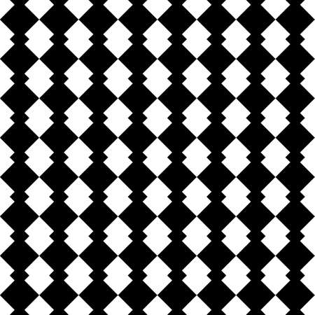 Seamless geometric vector pattern, figures ornament simple black and white wallpaper background, regular tile design.
