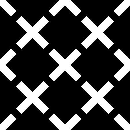 Seamless pattern.Folk ornament. Crosses background. Cross shapes wallpaper. Ethnic motif. Tribal vector. Mosaics backdrop. Digital paper, web design, textile print, abstract.