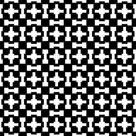 Seamless pattern. Crosses, figures ornament. Embroidery background. Folk wallpaper. Shapes backdrop. Tribal motif. Ethnic mosaic. Digital paper, textile print, web design, abstract. Vector artwork