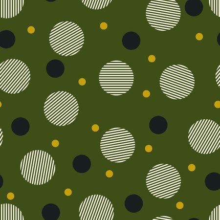 Circles seamless pattern. Geometric motif. Rounds background. Circle shapes wallpaper. Circular figures ornament. Geometrical backdrop. Digital paper, textile print, web design, abstract. Vector art.