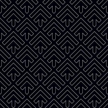 Arrows, chevrons wallpaper. Japanese mountains motif. Ancient mosaic backdrop. Oriental pattern background. Ethnic ornament. Folk image. Digital paper, textile print, web design. Seamless illustration
