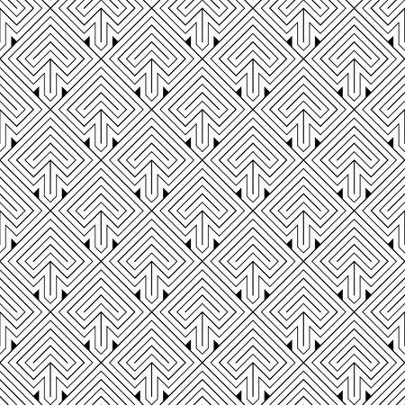 Arrows. Japanese motif. Ethnical wallpaper. Ancient mosaic backdrop. Oriental pattern background. Ethnic ornament. Folk image. Digital paper, textile print, web design. Seamless art illustration. 矢量图像