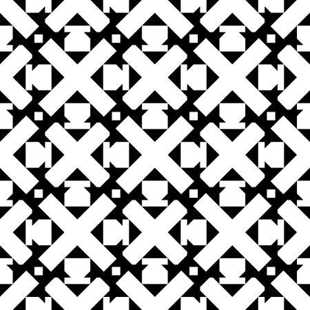 Ethnic motif. Seamless pattern.Mosaics backdrop. Folk ornament.Crosses, squares, figures background. Tribal vector. Mosaics backdrop. Digital paper, web design, textile print, abstract wallpaper.
