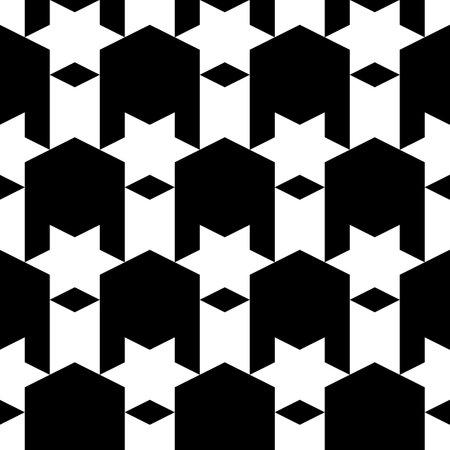 Seamless pattern. Stars, rhombuses, figures ornament. Ethnic motif. Simple background. Geometric backdrop.Folk wallpaper. Digital paper, textile print, web design, abstract.