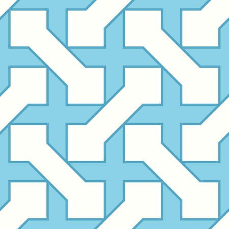 Iranian ornament. Arabic mosaic background. Manji wallpaper. Ethnical folk image. Sayagata motif. Ancient arabesque tiles. Digital paper, web design, textile print, backdrop. Seamless vector art work.