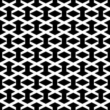 Seamless pattern. Rhombuses, figures ornament. Geometric backdrop. Simple shapes background. Ethnic wallpaper. Polygons motif. Digital paper, textile print, web design, abstract. Vector artwork 矢量图像