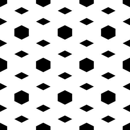 Seamless pattern. Rhombuses, hexagons ornament. Geometrical backdrop. Quadrangular, hexagonal shapes wallpaper. Geometric background. Polygons motif. Digital paper, textile print, abstract. Vector. 矢量图像