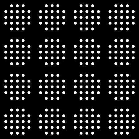 Seamless pattern. Circles ornament. Dots motif. Geometric wallpaper. Simple shapes backdrop. Rounds background. Ethnic motif. Digital paper, textile print, web design, abstract. Vector artwork.