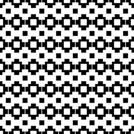 Seamless pattern. Tribe motif. Tribal wallpaper. Ancient mosaic. Inca crosses, squares ornament. Ethnic background. Folk image. Digital paper, web design, ethnical textile print. Vector artwork