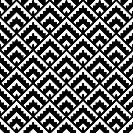 Seamless pattern. Tribal background. Repeated figures wallpaper. Simple shapes image. Textile print, web design, abstract backdrop, artwork illustration. Folk motif. Ethnic ornament. Vector art.