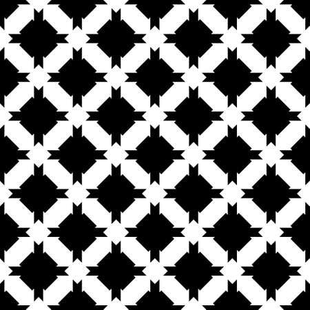 Seamless pattern. Figures ornament. Mosaics background. Crosses motif. Folk image. Ethnic wallpaper. Digital paper, web design, textile print, abstract illustration. Cross shapes backdrop. Vector art.