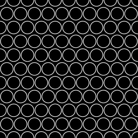Circles pattern. Rings seamless ornament. Geometric motif. Circle shapes background. Circular figures backdrop.Ethnic wallpaper. Digital paper, web design, textile print, abstract image. Vector art