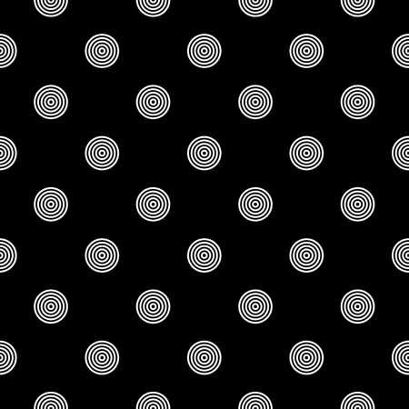 Circles seamless pattern. Dots print. Polka dot ornament. Circular figures wallpaper. Rounds background. Dotted motif. Digital paper, textile image, web design, abstract backdrop. Vector illustration. Векторная Иллюстрация
