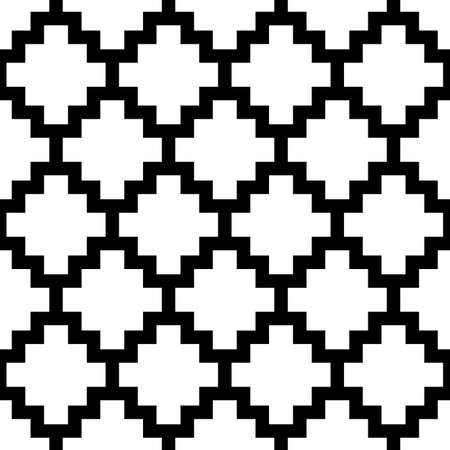 Inca crosses seamless pattern. Ethnic ornament. Folk background. Geometric wallpaper. Cross shapes image. Tribal motif. Ancient mosaic. Digital paper, web design, textile print, abstract. Vector.