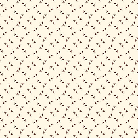 Repeated mini triangles minimalist background. Simple abstract wallpaper. Seamless surface pattern design with geometric figures.