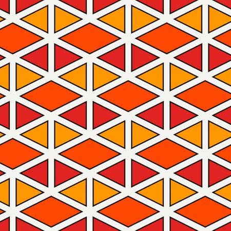 Contemporary geometric pattern. Repeated triangles ornament. Modern geo abstract background. Seamless surface design. Mosaic wallpaper. Digital paper, textile print. Vector illustration Vektoros illusztráció