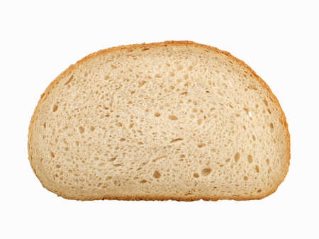 Slice of wheat and rye bread photo