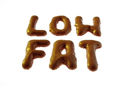 Letter cookies writing LOW FAT photo