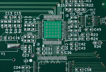 Circuit board with empty slot for microchip photo