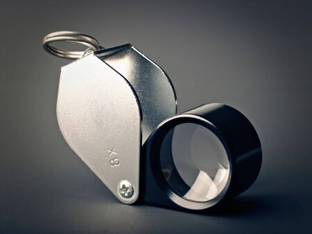 collapsible: Close-up of a collapsible loupe