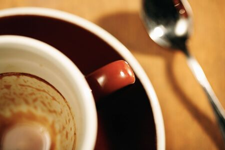 washup: Finished cup of coffee selective focus
