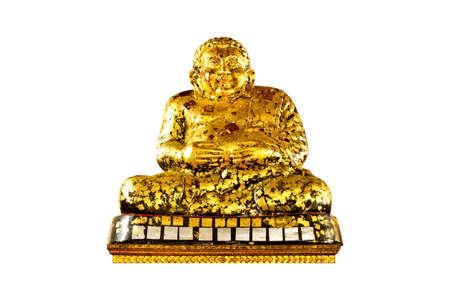 Gold buddha statues on background