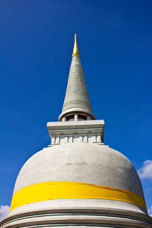 White pagoda and blue sky  Stock Photo