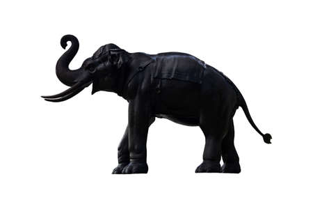 realistic elephant sculpture Asian style  Stock Photo