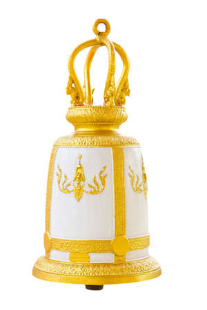 beautiful thai bell on isolated background