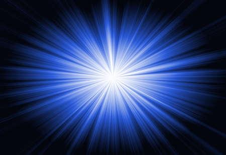 fluorescence: Blue line on black background