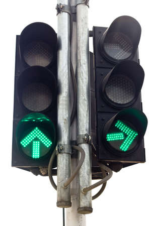 An isolated traffic light