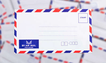 postal envelope on background  photo