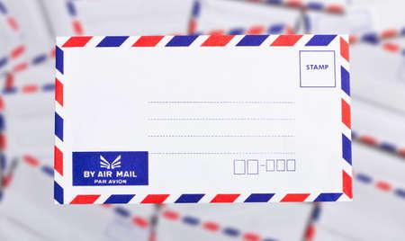 postal envelope on background