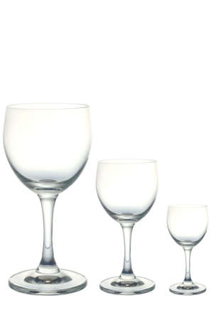 Empty wine glass, isolated on a white background Stock Photo