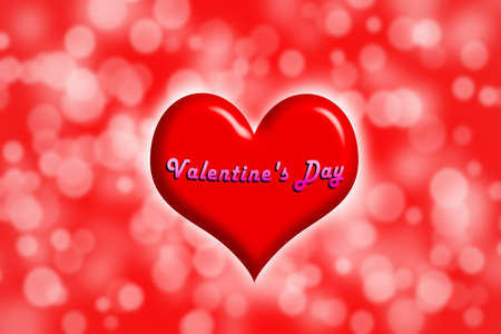 Red Heart Happy Valentine s day Stock Photo