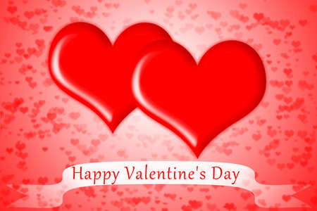 Red Heart Happy Valentine s day Stock Photo